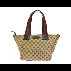 Authentic Gucci Sherry line canvas tote!